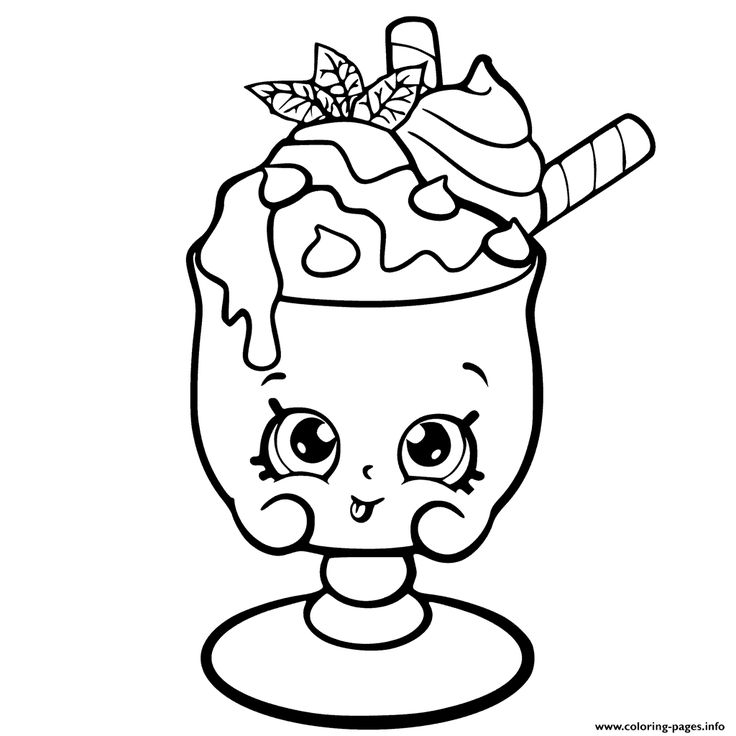 Choc Mint Charlie From Shopkins Season 6 Chef Club Coloring Pages