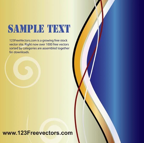 Wavy Page Layout Vector