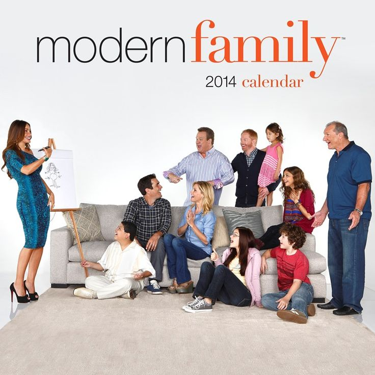 Featuring studio shots of the stars, episodic imagery, and actual dialogue from the show, this calendar will have the Modern Family's millions of fans laughing out loud and falling even more in love with the funniest family on television. With the abundance of planning space, the Modern Family 2014 Wall Calendar ensures that Claire can keep track of her family's activities, Gloria can schedule her appointments, and Cam need never miss a spin class. | $14.99