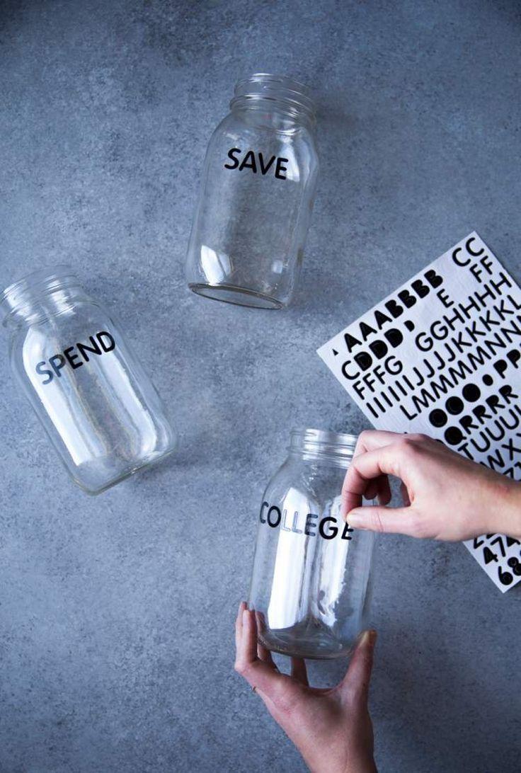 Schraubgläser Beschriften - mit selbstklebenden Etiketten