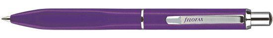 Filofax Calipso Push Button Purple Ballpoint Pen