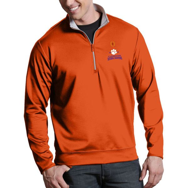 Clemson Tigers Antigua College Football Playoff 2016 National Champions Leader Pullover Jacket - Orange - $79.99