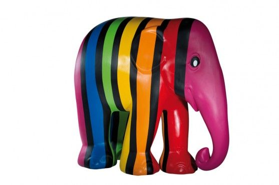 Farbenfant by Karine Paletta-Hinsberger; Trier-Luxembourg Elephant Parade