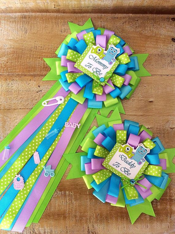 how to make baby shower pins