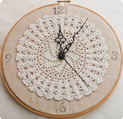 crochet a lacy clock