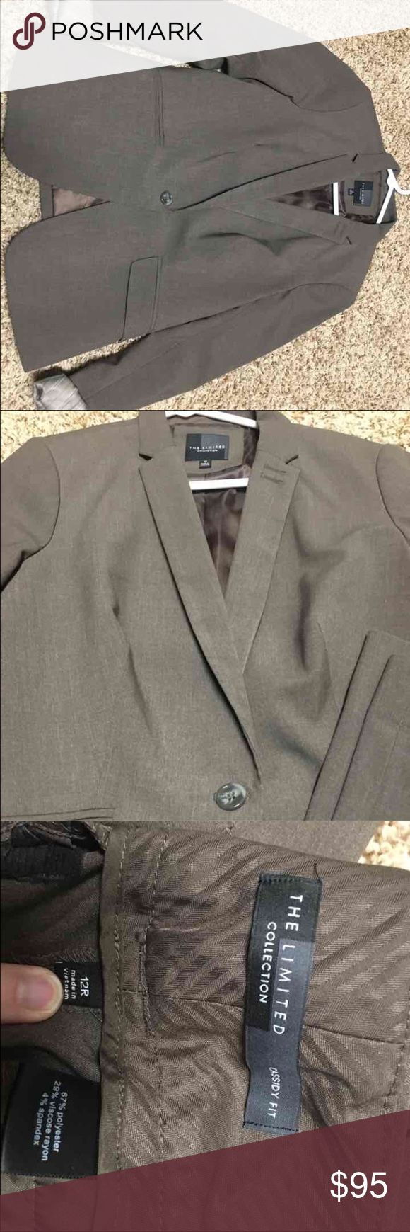 Limited Collection Brown Suit This is a lighter brown from Limited Collection NOT from outlet. Pants are 12 Cassidy and Blazer is 10. Both would fit a 10 or 12 size as I have been both and still worn! VERY good condition like new as I barely wore this color The Limited Other