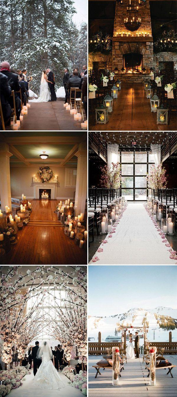 gorgeous winter wedding ceremonies