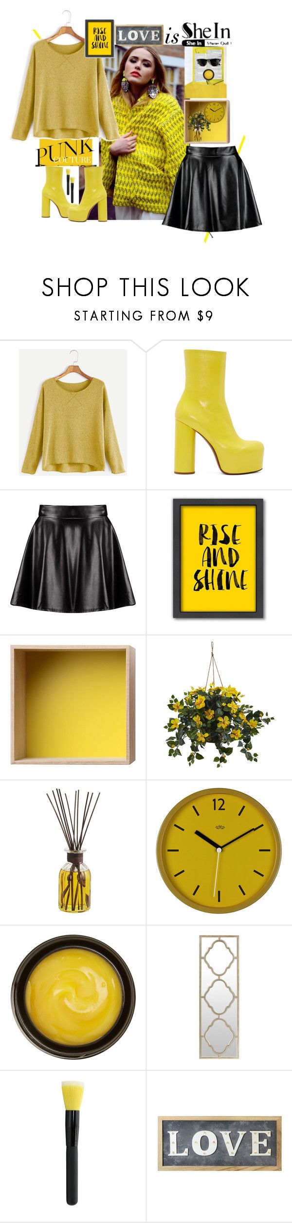 """""""Shein contest"""" by luanna98 ❤ liked on Polyvore featuring Vetements, Boohoo, Americanflat, Muuto, Nearly Natural, Pier 1 Imports, Ray-Ban, Wild & Wolf, de Mamiel and Surya"""
