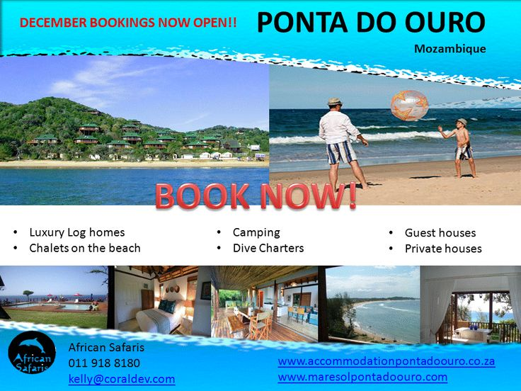December accommodation specials in Ponta Do Ouro