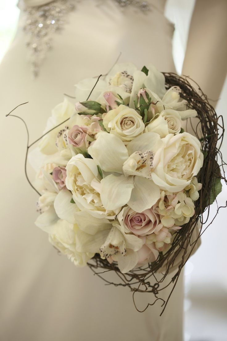 Very Chic And Now Cymbidium Orchids Accented By Delicate Pastels Whites Are Featured Bridal Flowerswhite