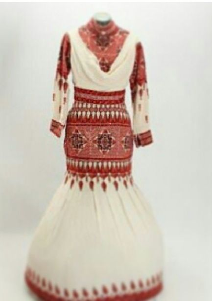 Traditional Palestinian Embroidered Mermaid Dress