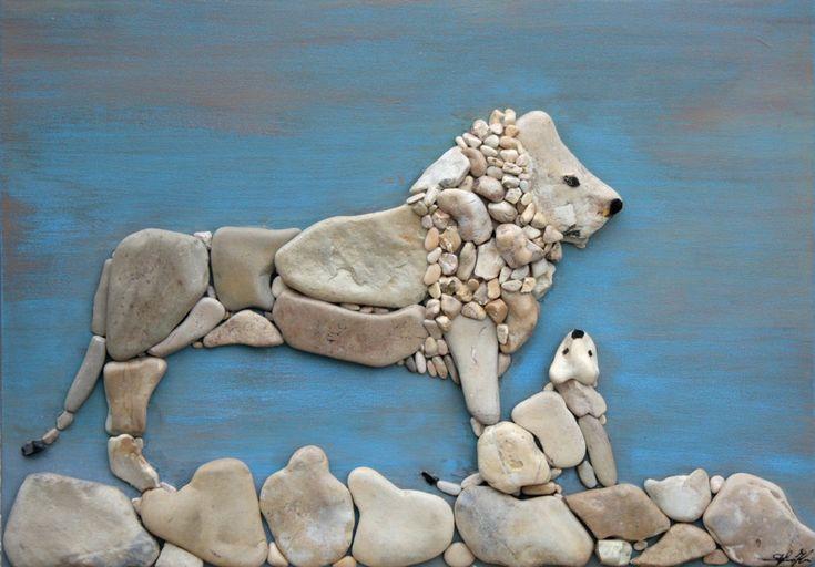 Doğal Taşları Döşereyerek Hayvan Figürleri Yapmak (5) - Doğal taşlar, doğal taş evler ve doğal taş ocakları
