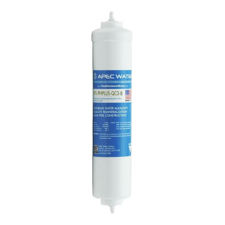 Ultimate 10 in. Calcium Carbonate Alkaline Filter with 3/8 in. Quick Connector