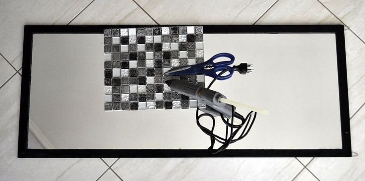 1000 Ideas About Tile Mirror Frames On Pinterest Tile Mirror Framing A Mirror And Diy