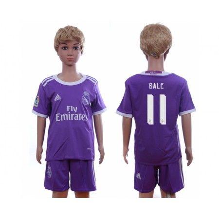 Real Madrid Trøje Børn 16-17 Gareth #Bale 11 Udebanesæt Kort ærmer.199,62KR.shirtshopservice@gmail.com