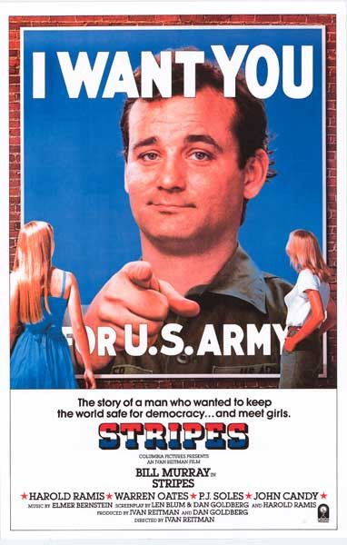 Stripes I Want You Bill Murray Movie Poster 11x17