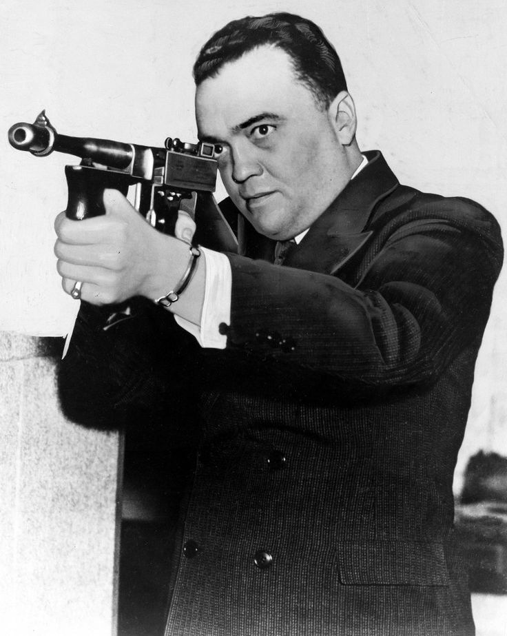 Federal Bureau of Investigation Director J. Edgar Hoover is shown in the 1936 FBI documentary