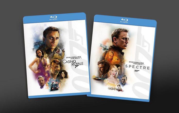 Daniel Craig special edition DVD cover art for James Bond. 2/4