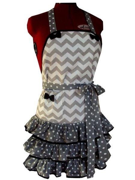 FARTUCH-FARTUSZEK KUCHENNY BAWEŁNIANY - APRON_STYLE - Fartuchy  pracownia krawiecka zajmująca się szyciem nowoczesnych i stylowych fartuszków opasek pin-up rękawic