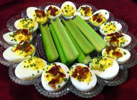 The perfect summer side dish: #Bacon-Deviled Eggs