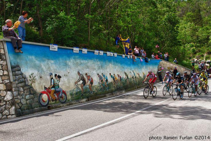 Giro d'Italia 2014 - murales a Bordano (UD)