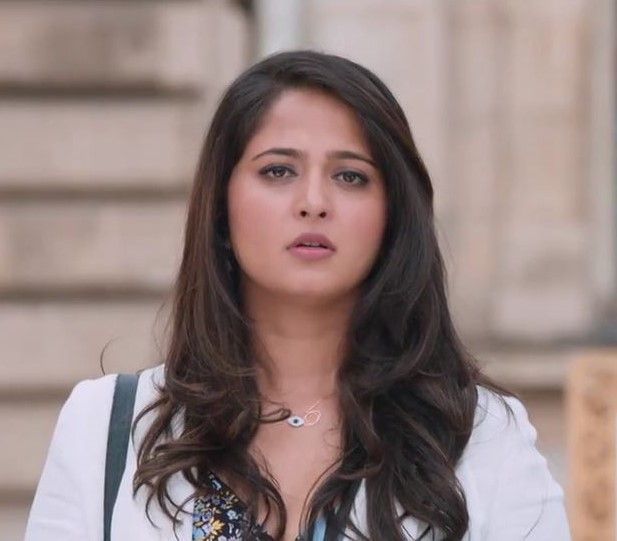 Anushka Shetty Sad Looking Photos In White Dress