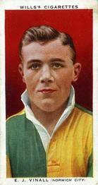 1935-36 W.D. & H.O. Wills Association Footballers #44 Jack Vinall  Front