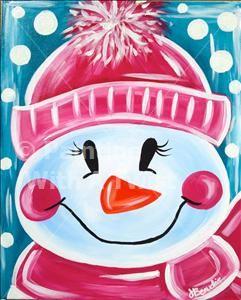 Let It Snow - Fayetteville Painting Class - Painting with a Twist - Painting with a Twist