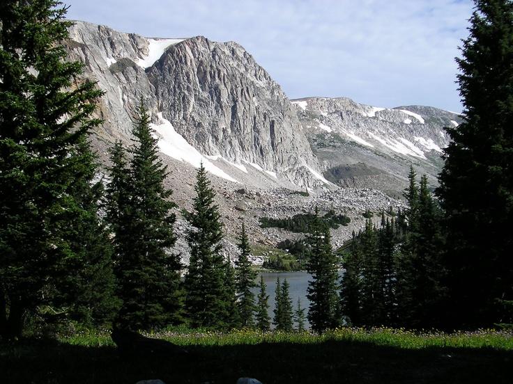 Lake Marie on the Snowy Range in Wyoming