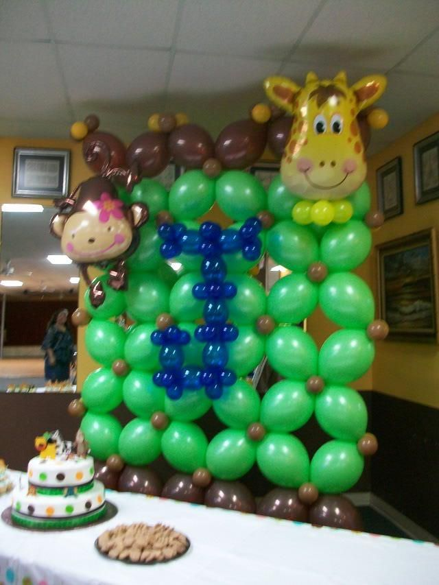 1000 images about jungle safari on pinterest jungle for Balloon decoration machine