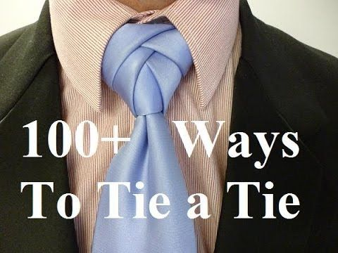 How to Tie The Eldredge Knot for Your Necktie - YouTube