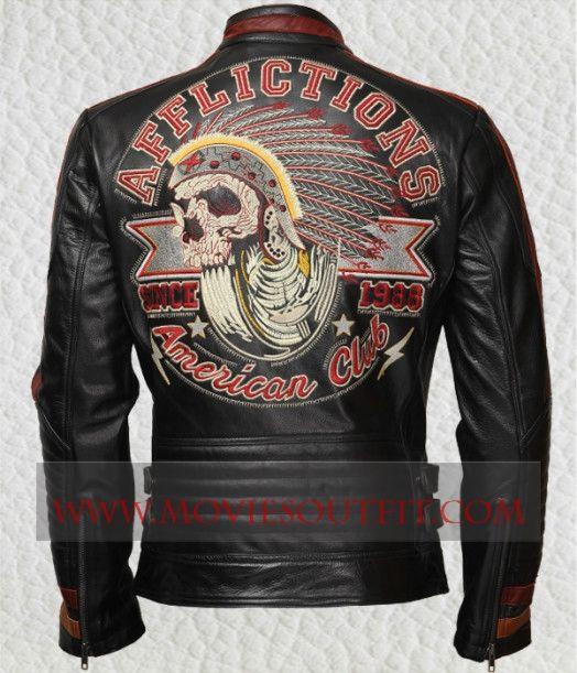 Superb Men's Apache Biker Halloween Jacket in Hot Sale.  #mensjacket #leatherjacket #blackjacket #bikerjacket #bikerclothing #bikeroutfit #sale