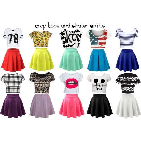 crop top and skater skirt set wwwpixsharkcom images
