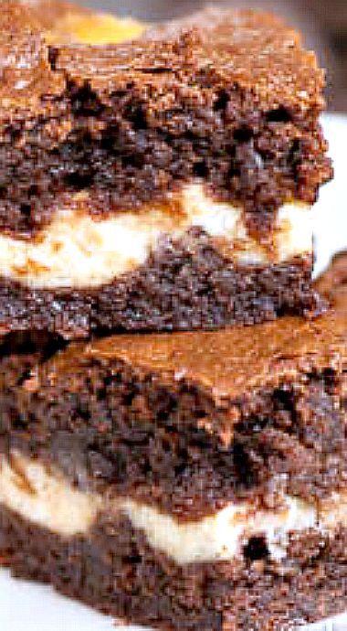 Baileys Irish Cream Cheesecake Brownies