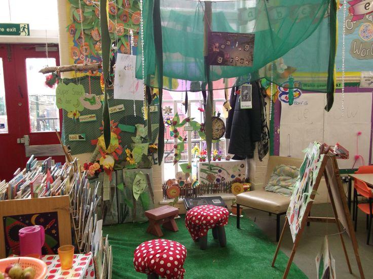 Woodland themed reading area