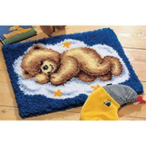 latch+hook+kits | ... about Cloud Teddy Bear Latch Hook rug making kit latch hook canvas