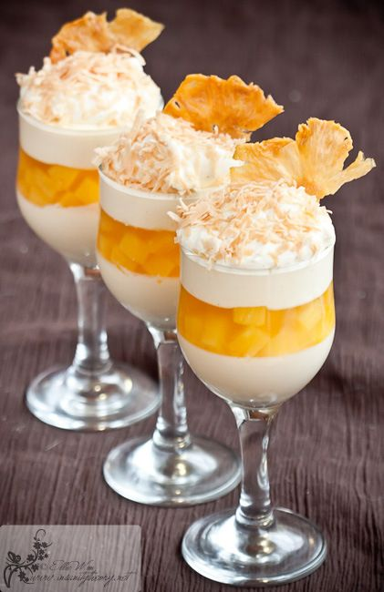 Pineapple Vanilla Panna Cotta