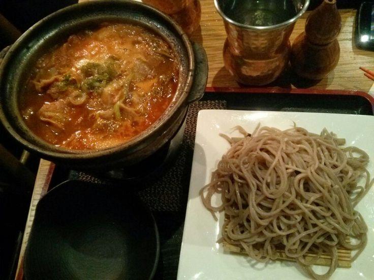 Pork kimchi soba