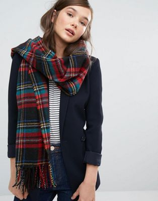 Jack Wills Aber Plaid  Blanket Scarf