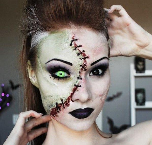 halloween contact lenses halloween make up green lenses