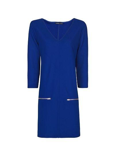 MANGO.com - royal blue Zipped pockets dress