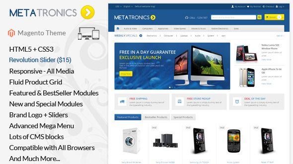 Meta Tronics - Magento Responsive Theme