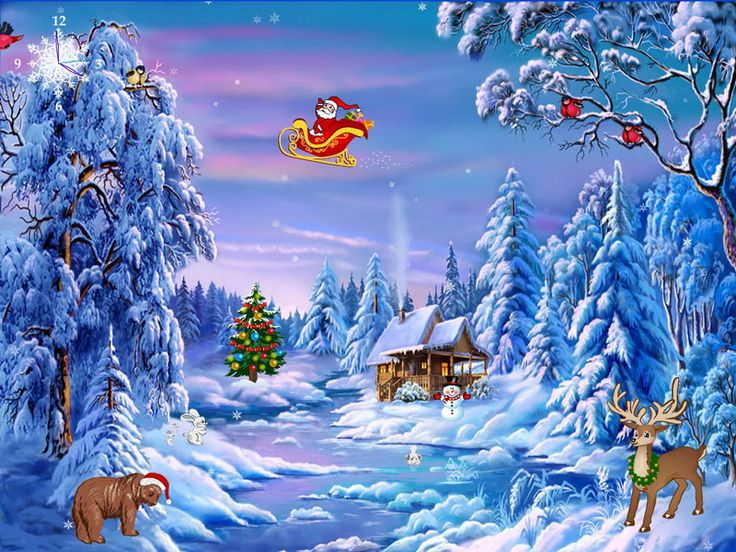 Christmas Scene Screensaver Wallpaper: 15 Best Images About Screen Savers On Pinterest