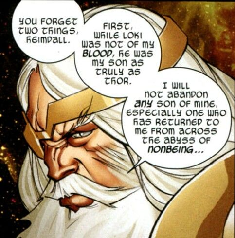 Wait...Odin...is actually being...fatherly?!----> IN WHAT UNIVERSE IS THIS?!