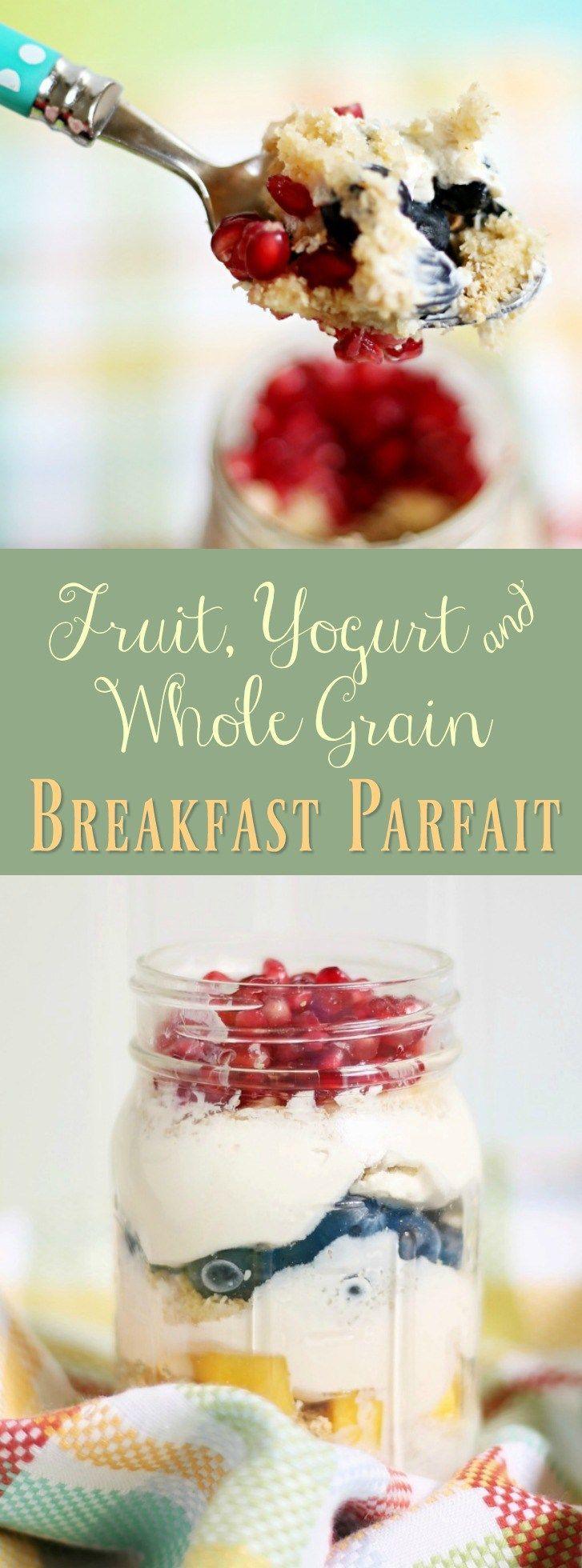 Fruit, Yogurt, & whole grain breakfast parfait recipe. #spoonfulsofgoodness (AD) -- Get a Post:registered: cereal coupon here: ooh.li/1369266