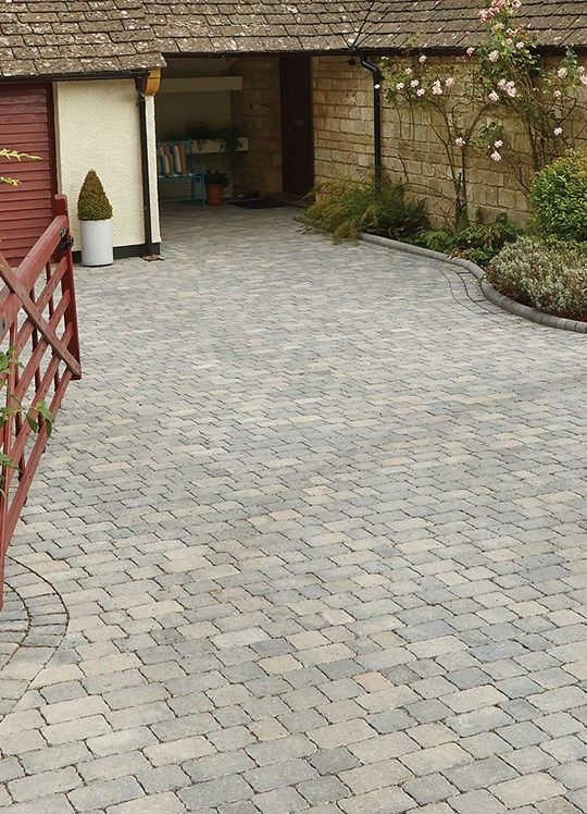 Woburn Rumbled Infilta Block Paving | Bradstone
