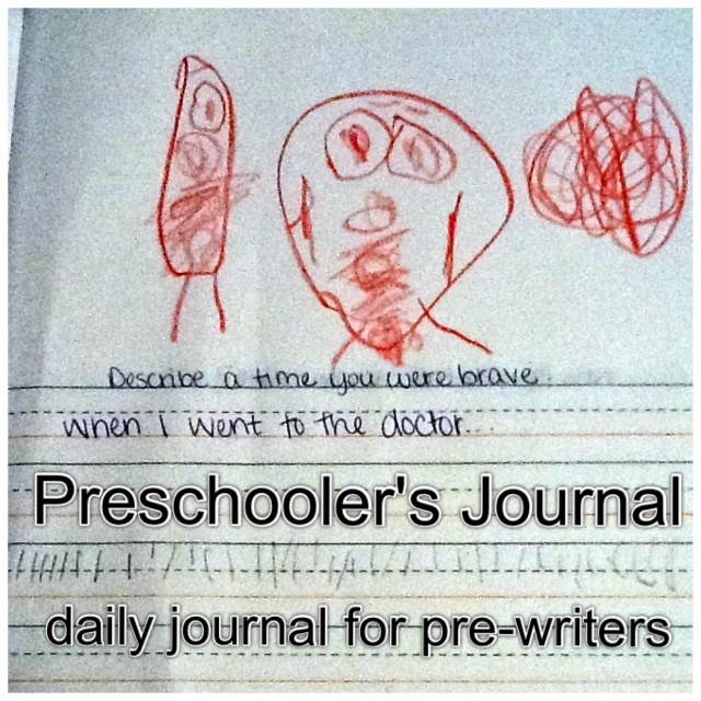 A writing journal for preschoolers.