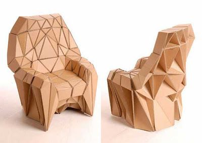 How To Recycle: Recycled Cardboard Furniture Nice Look