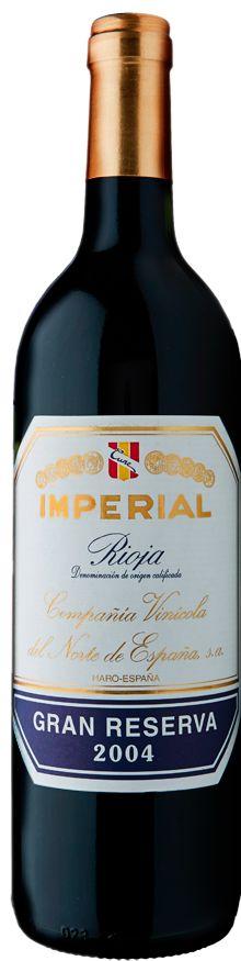 Tempranillo /  Graciano / Mazuelo 2004 *Imperial Gran Reserva* - Compañía Vinícola del Norte de España, La Rioja------------------ Terroir: Rioja Alta - Rioja DOCa