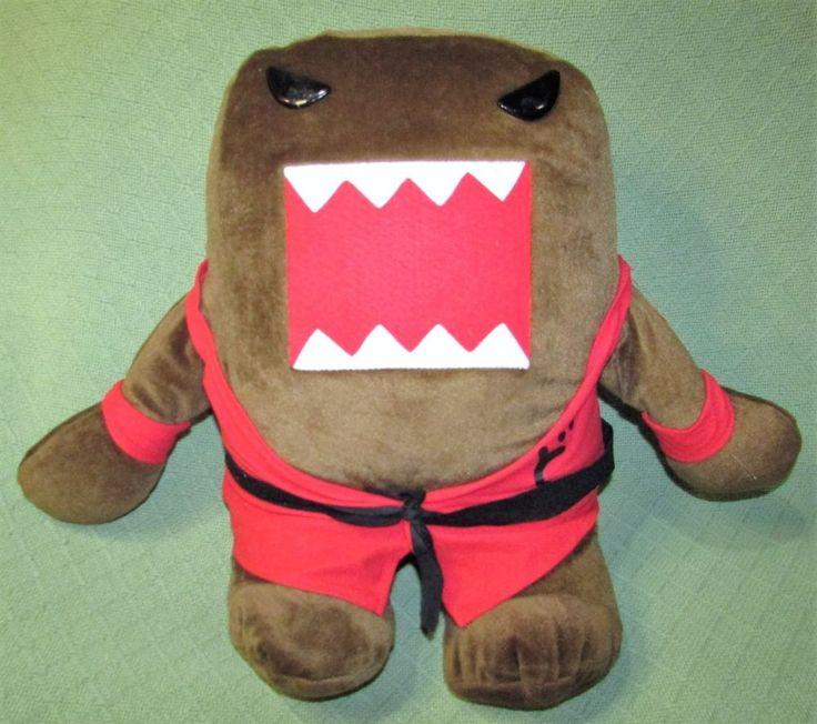"18"" DOMO KARATE Black Belt Red Uniform 2014 Kellytoy Plush Stuffed Free Standing #Domo"